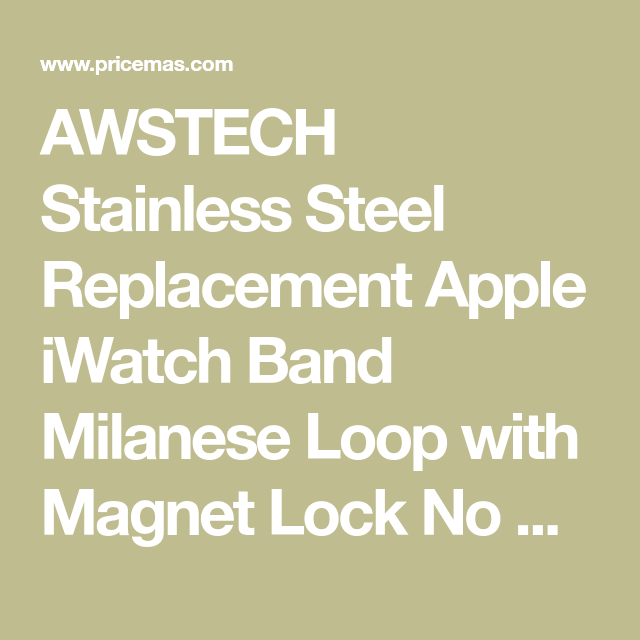 AWSTECH Stainless Steel Replacement Apple iWatch Band
