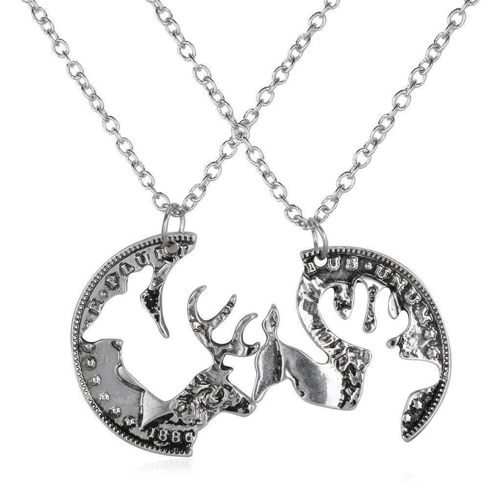 Custom engraved boyfriend girlfriend deer head heart hunting custom engraved boyfriend girlfriend deer head heart hunting southern love buck doe his hers promise pendant aloadofball Choice Image
