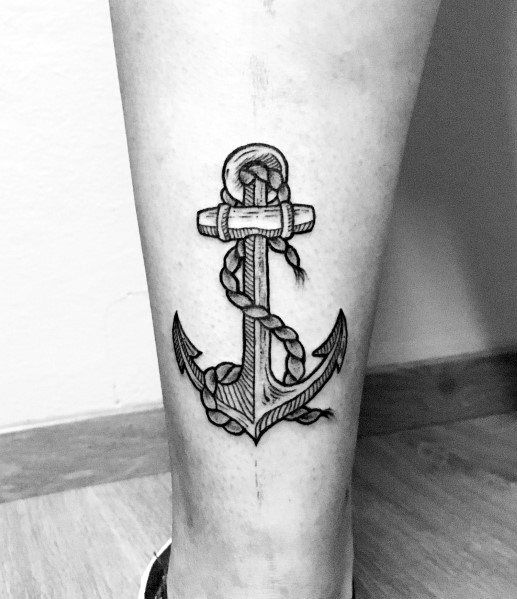 Small Anchor Tattoo Designs Simple: Top 43 Simple Anchor Tattoo Ideas [2020 Inspiration Guide