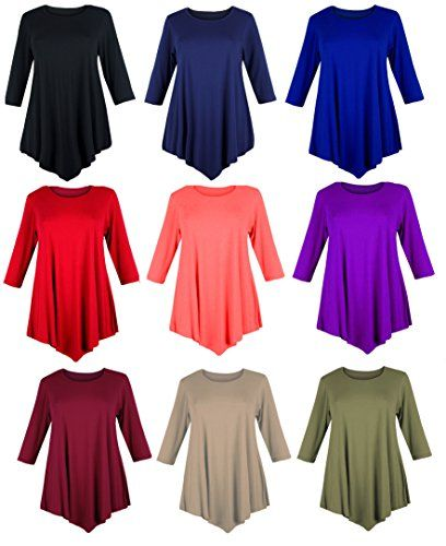 PLUS SIZE WOMENS LOOSE V-CUT TUNIC TOP SWING DRESS PLUS SIZE 24 26 ...