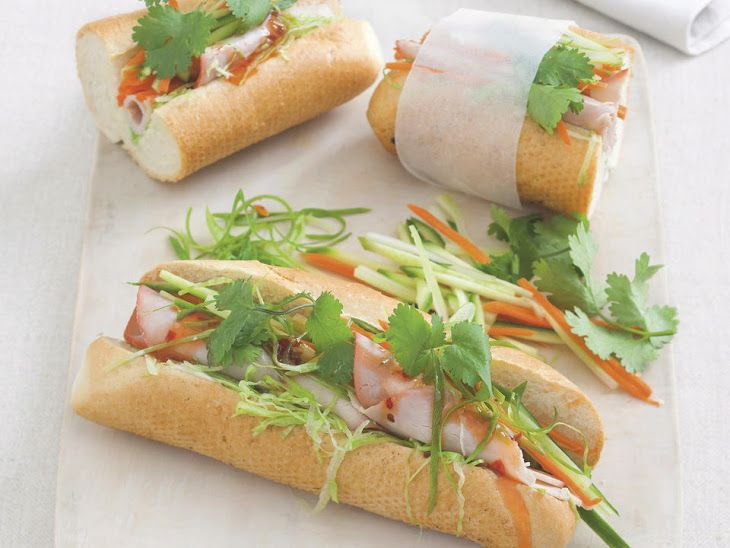 Banh Mi Vietnamese Sandwiches Recipe Lunch With Mayonnaise Bread Rolls