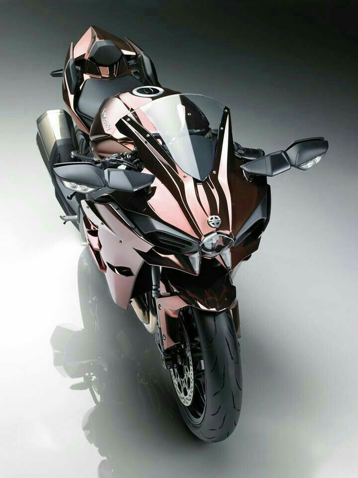 Rosegold Sports Bike Futuristic Motorcycle Motorcycle Sports Bikes Motorcycles