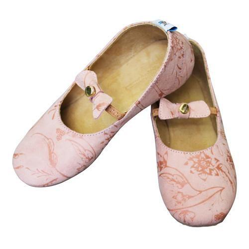 Paisley Suede Ballet Flats