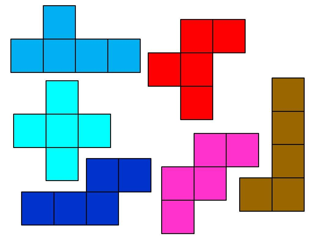 Area And Perimeter Using Pentominoes But What The Hell Are Pentominoes I Call Those Tetris