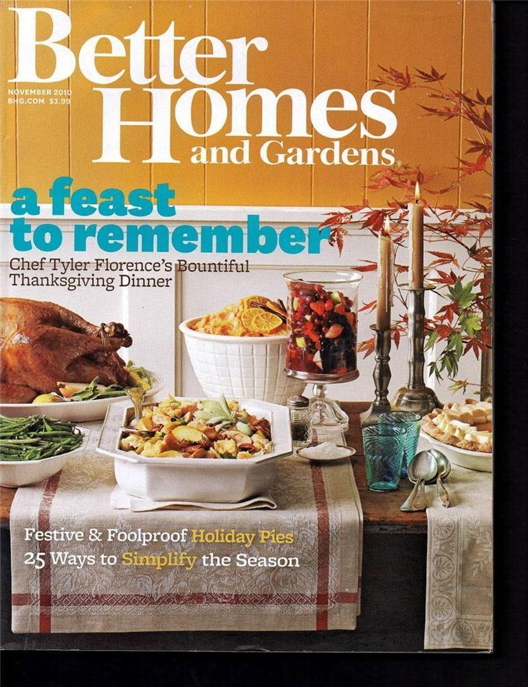 BETTER HOMES & GARDENS NOVEMBER 2010 THANKSGIVING WITH ...