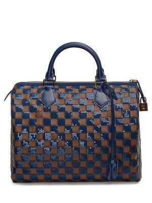 dc41b555a6ef Louis Vuitton Limited Edition Damier Ebene Blue Paillette Speedy 30 ...