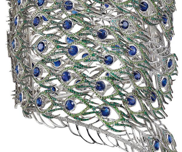 """Chopard - Bracelet Paon - Haute Joaillerie """"Le Monde des Animaux"""""""