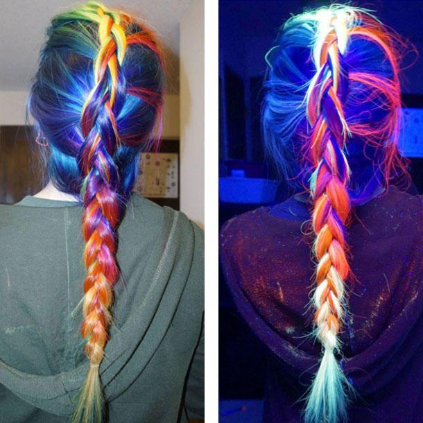 Rainbow Hair leuchtet jetzt auch im Dunkeln