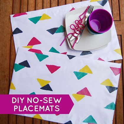 Diy No Sew Waterproof Placemats I Wouldn T Stamp Them Just Buy A