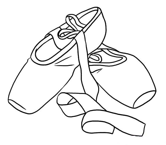 Ballet Shoes Colouring Pages Coloring Page Dessin Tissus