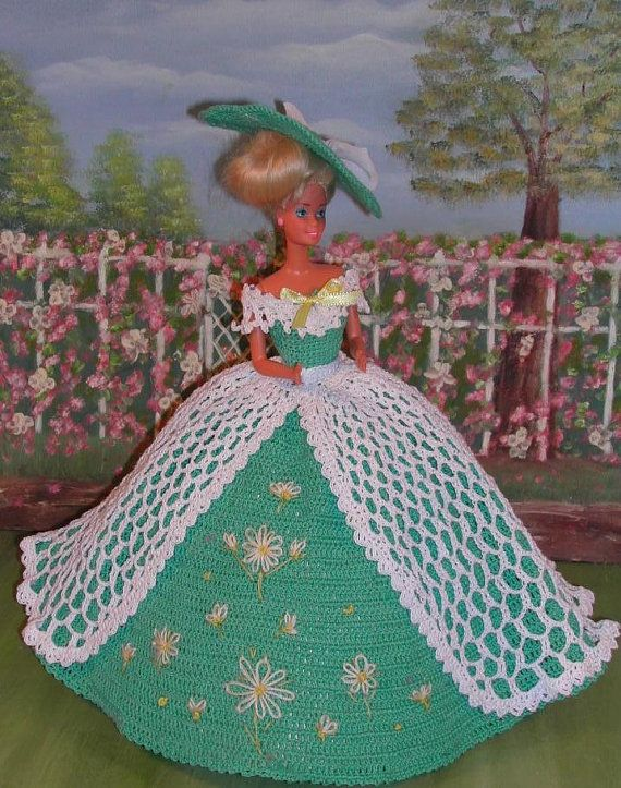 Crochet Fashion Doll Barbie Pattern- #235 LADY MARGARET | einfache ...
