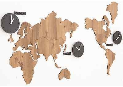 Black world map clocks wall multiple vintage style timezone large black world map clocks wall multiple vintage style timezone large diy gumiabroncs Gallery