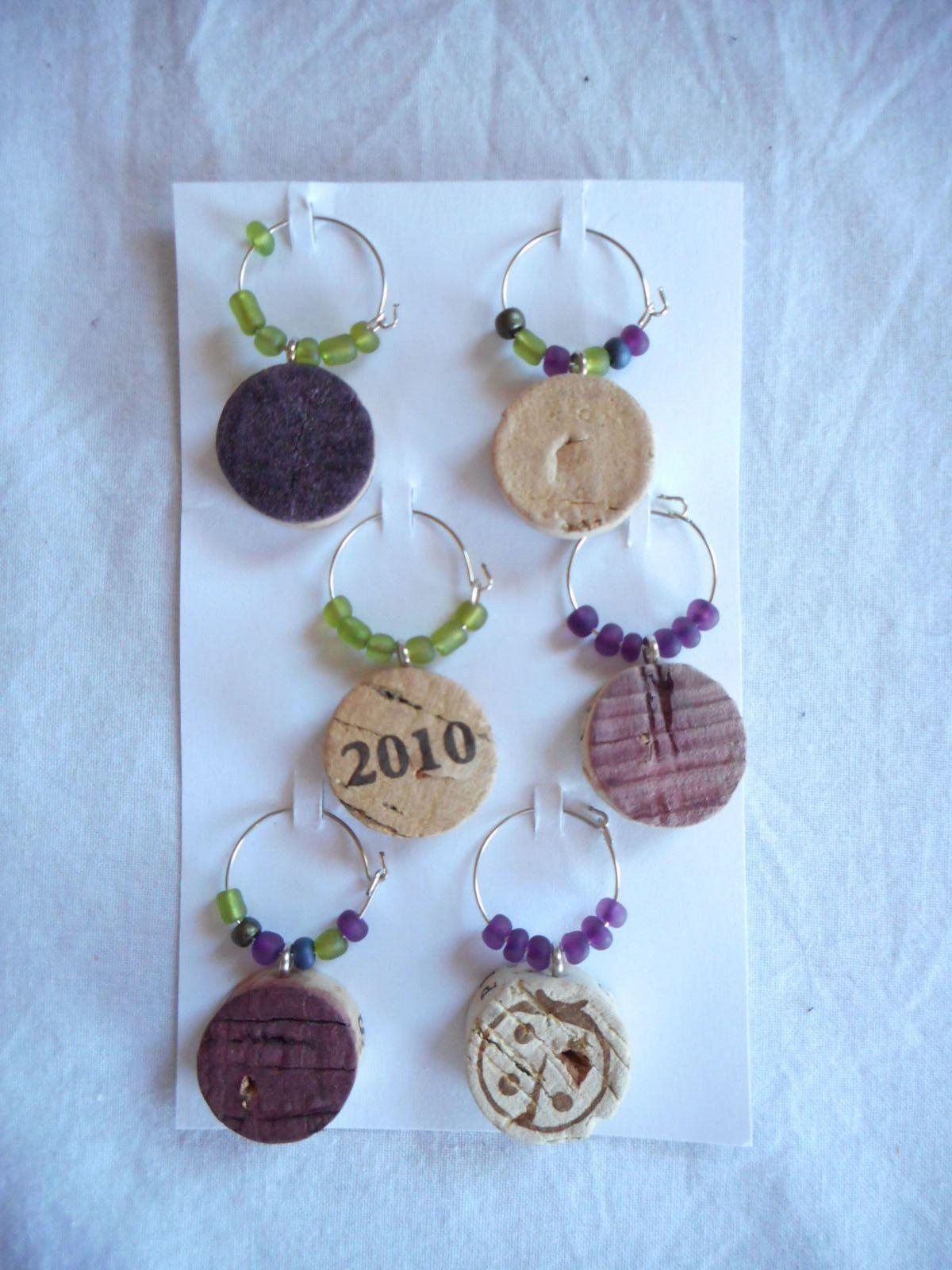 Wine Glass Charms Handmade Cork and Seed Bead | eBay