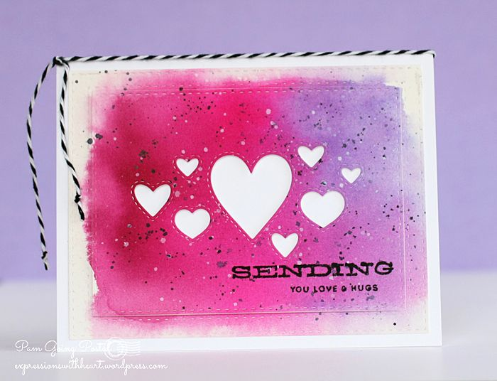 Pam Sparks used the new stitched heart dies from Simon Says Stamp! What a great card!