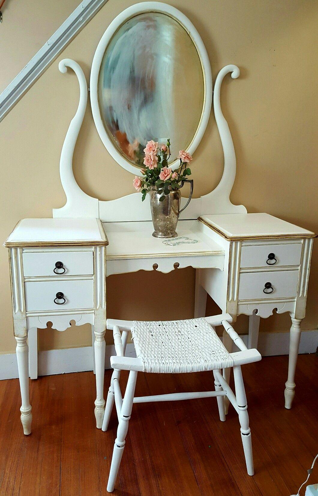 Vintage vanity by seacoastal furniture rescued muebles pinterest