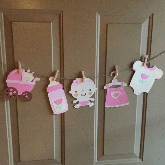 Baby shower decorations by SweetSewShop on Etsy