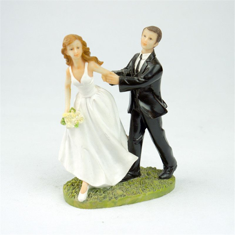 Run for love bride and groom toppers couple figurine wedding funny cheap supplies party buy quality grooming supplies directly from china supplies wedding suppliers romance groom bride figurine resin wedding cake topper junglespirit Gallery