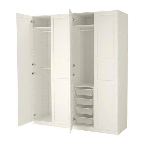PAX Wardrobe, white, Tyssedal white   Pax wardrobe, Ikea pax ...
