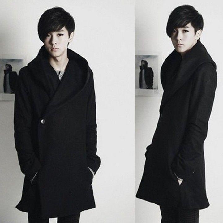 76dbf27e233 2017 new winter coat men s Korean Slim trench long coat for men ...