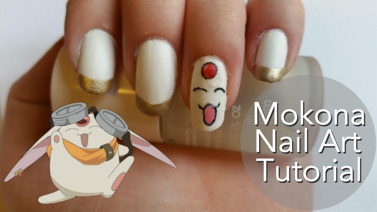 Mokona Nail Art Tutorial Make Up And Nails Pinterest Art Tutorials