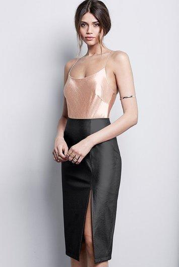 #Long Tall Sally - #TTYA x Long Tall Sally Tall Leather Look Pencil Skirt at Long Tall Sally - AdoreWe.com