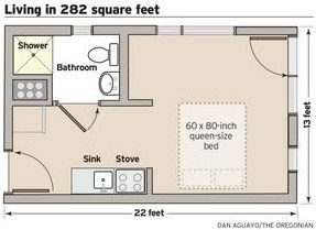 Micro Apartment Floor Plan