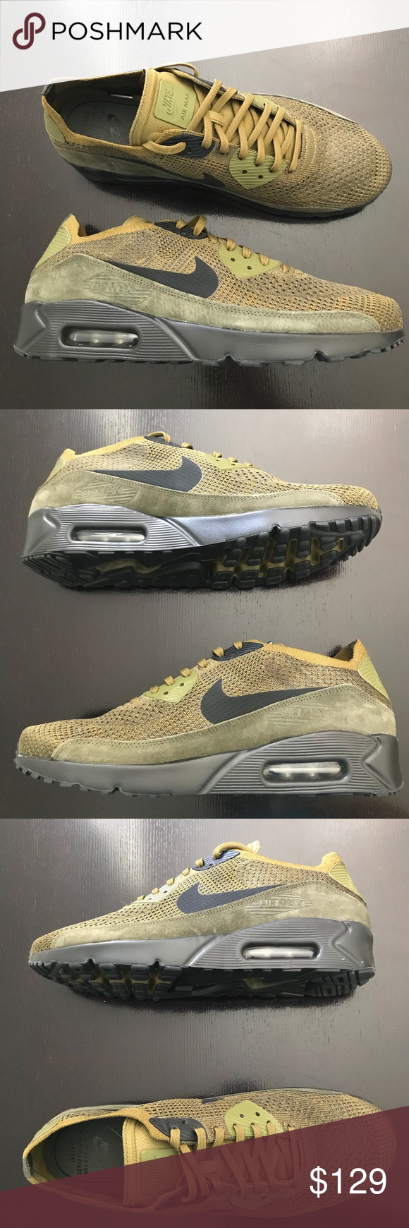 d38a921d77 Nike Air Max 90 Ultra 2.0 Flyknit Men's Shoes Color: Olive Flak / Black / Cargo  Khaki Style #: 875943-302 Size: 11 100% authentic.