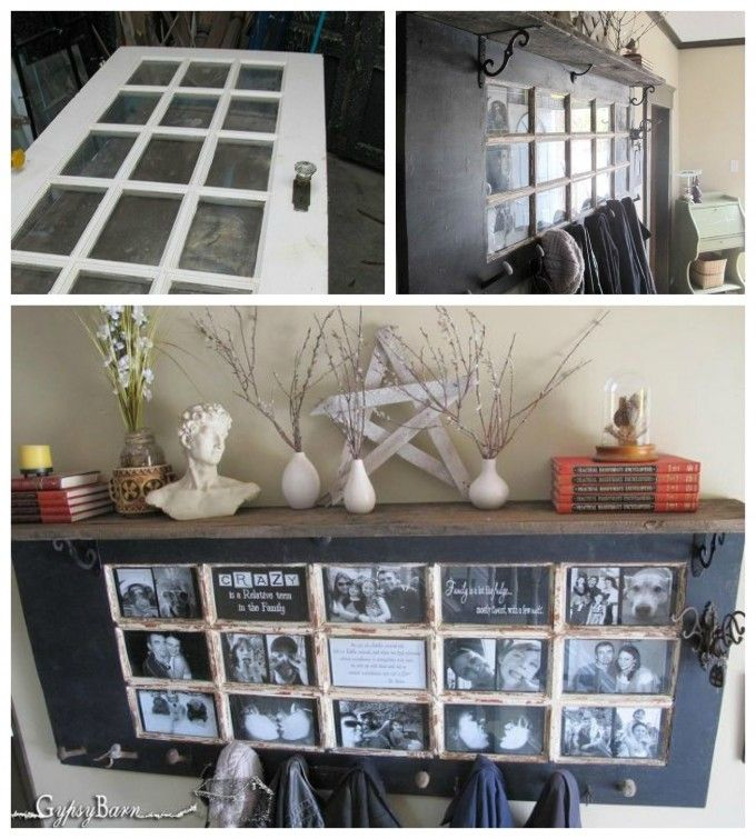 Turn a Old Door into a Hallway Mantel! Love this DIY Upcycle idea ...