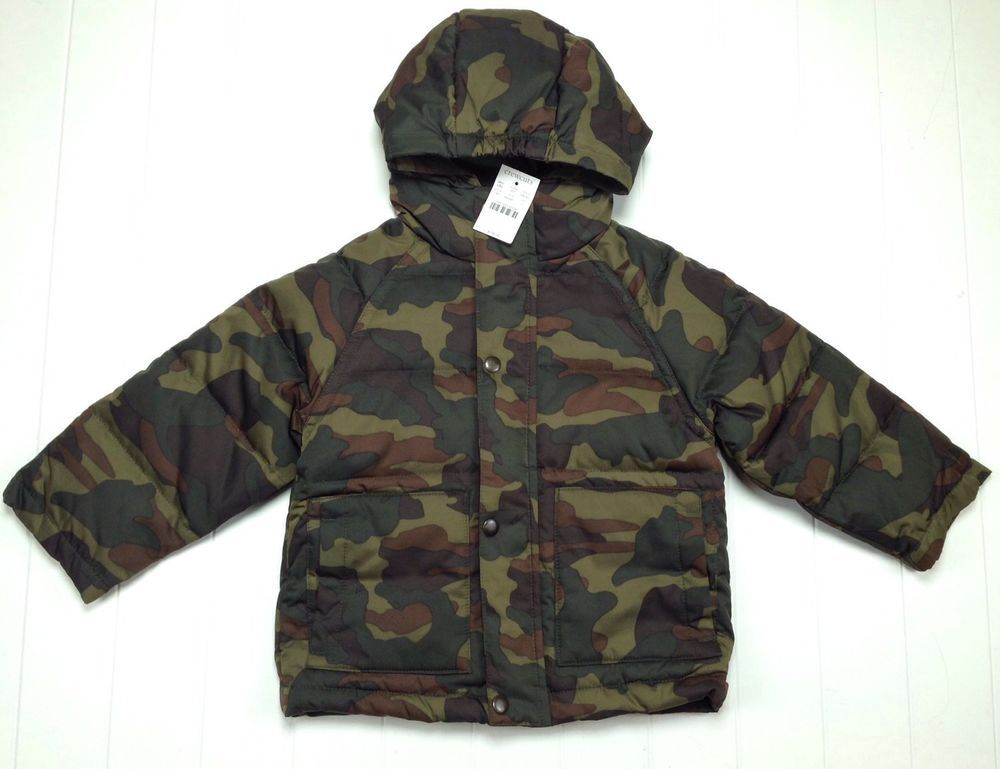 78fd8b920f479 Crewcuts J. Crew NEW Puffer Jacket Down Coat Camouflage Boy Size 2 $158  LBFO #