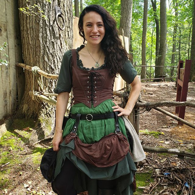 Jupe portefeuille lin, Tribal fantaisie Style Renaissance – ajustement de femmes, de choisir votre taille