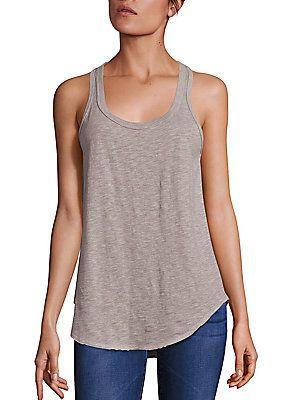 Wilt Cotton Shirttail Hem Tank Top