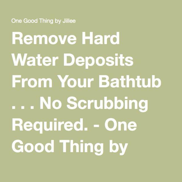 Bathtub Cleaning Hacks Scrubs