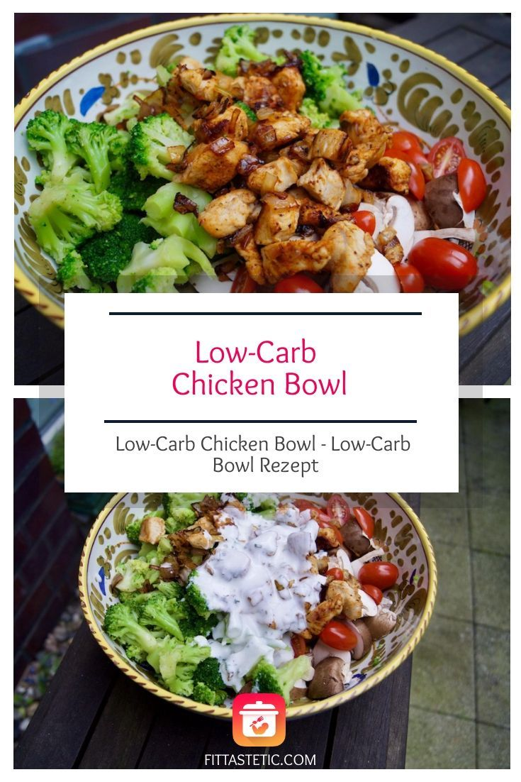 Low-Carb Chicken Bowl - Low-Carb Bowl Rezept