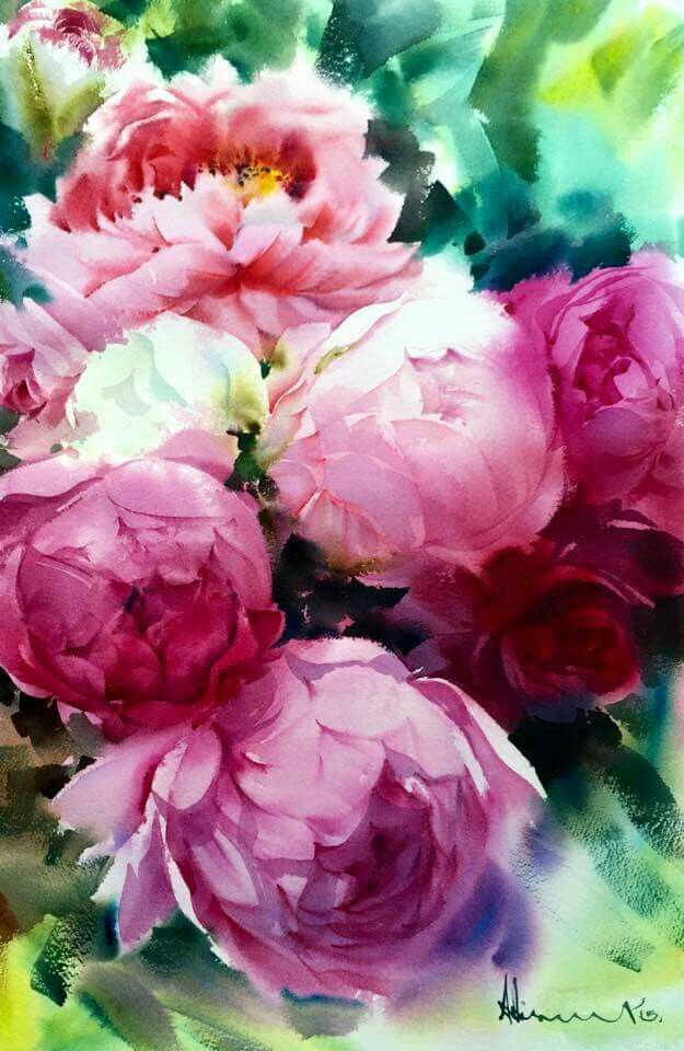 Adisorn Pornsirikarn Peinture Fleurs Peindre Des Fleurs Et