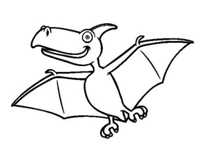 dibujos de dinosaurios infantiles voladores