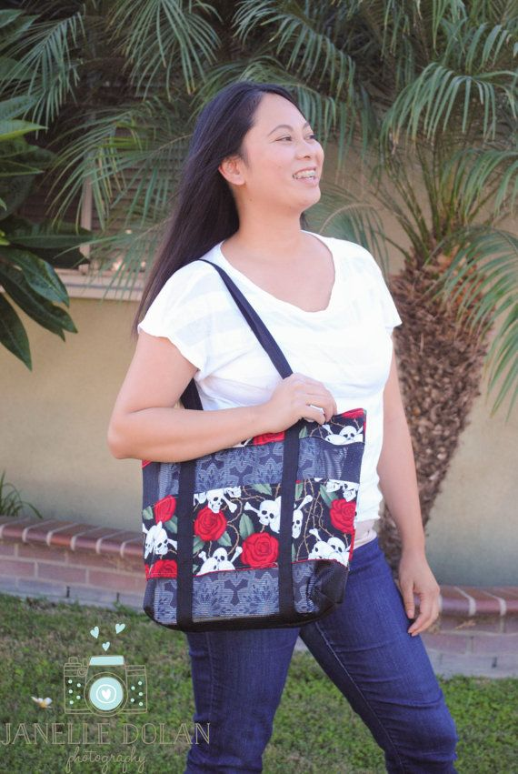 CLICK HERE for more details!! Skulls and roses mesh tote bag-$30.00 **Use coupon code PINS10 to save 10%**