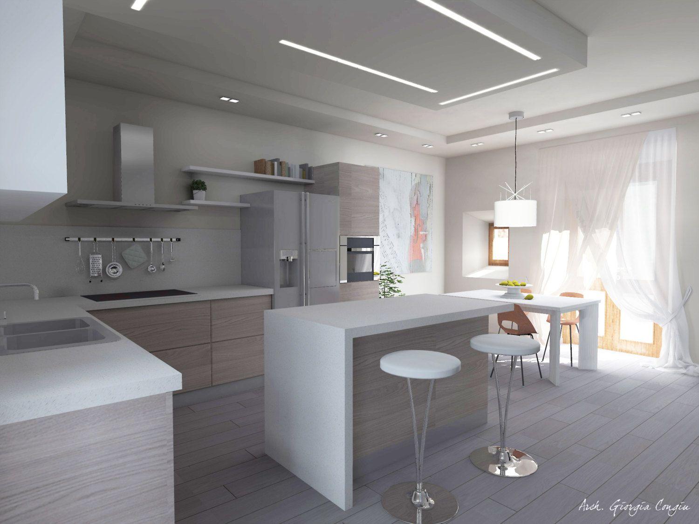 Progettazione Dinterni Gratis : Progetto arredamento di interni cucina di giciarch su etsy https