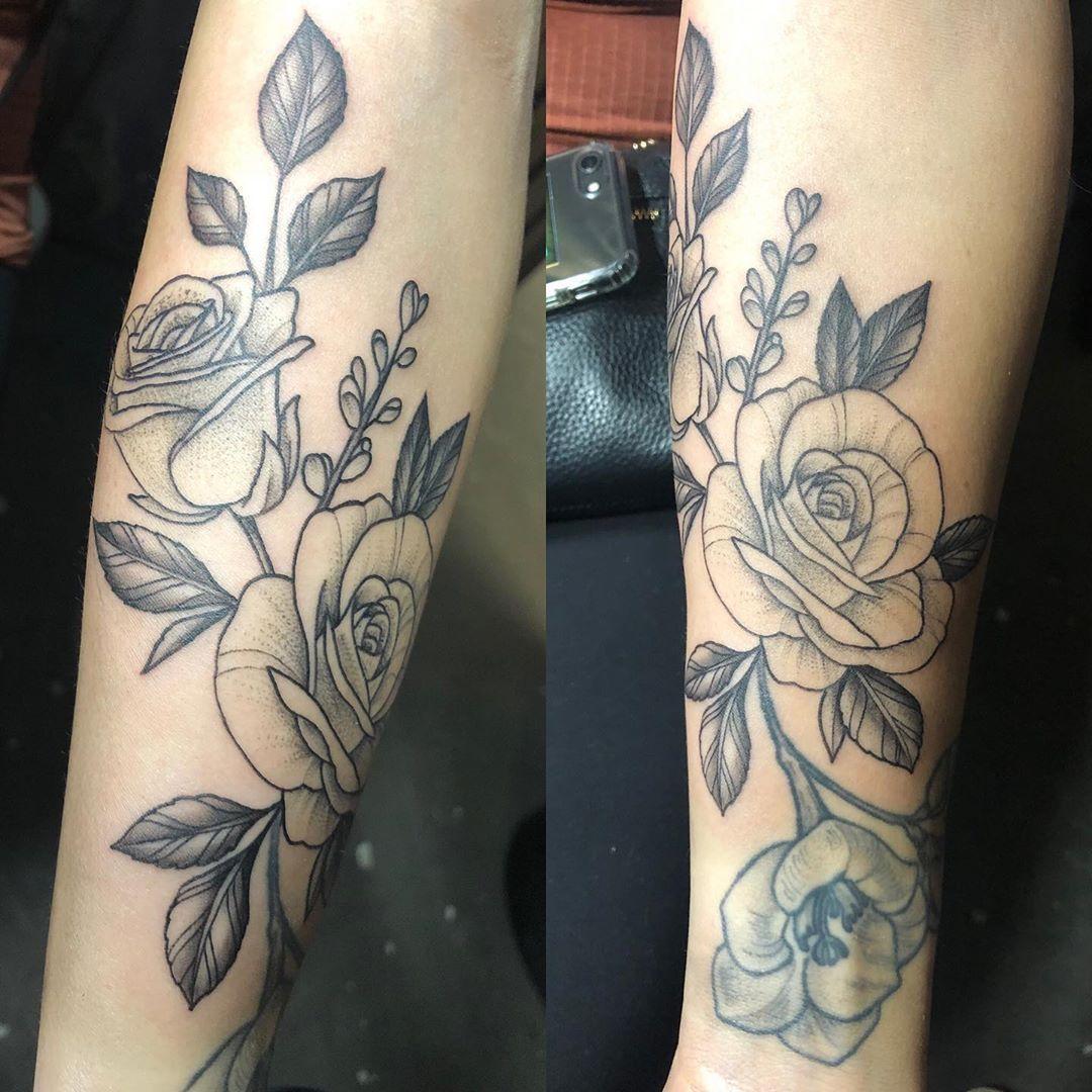 Rose addd on rising_tide_tattoo tat tattoo