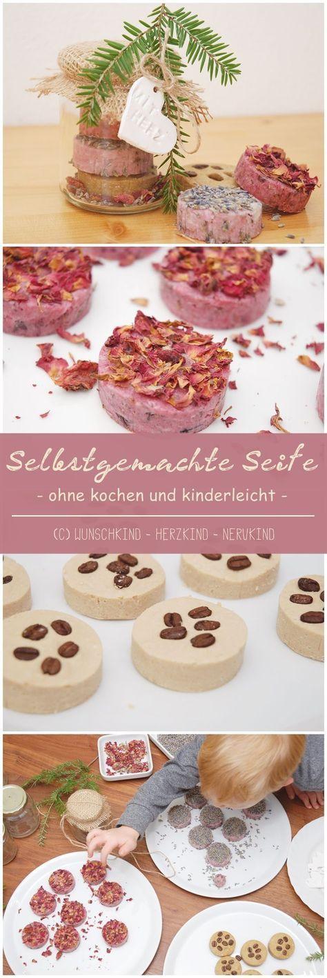 Selbstgemachte und nützliche Geschenke sind wundervoll. Seife kann ganz einfach, auch ohne kochen, von Kindern alleine hergestellt werden. Ich zeige euch, wie das geht! - Selbstgemacht - Montessori-inspiriert - Geschenkidee - #geschenkideenweihnachteneltern