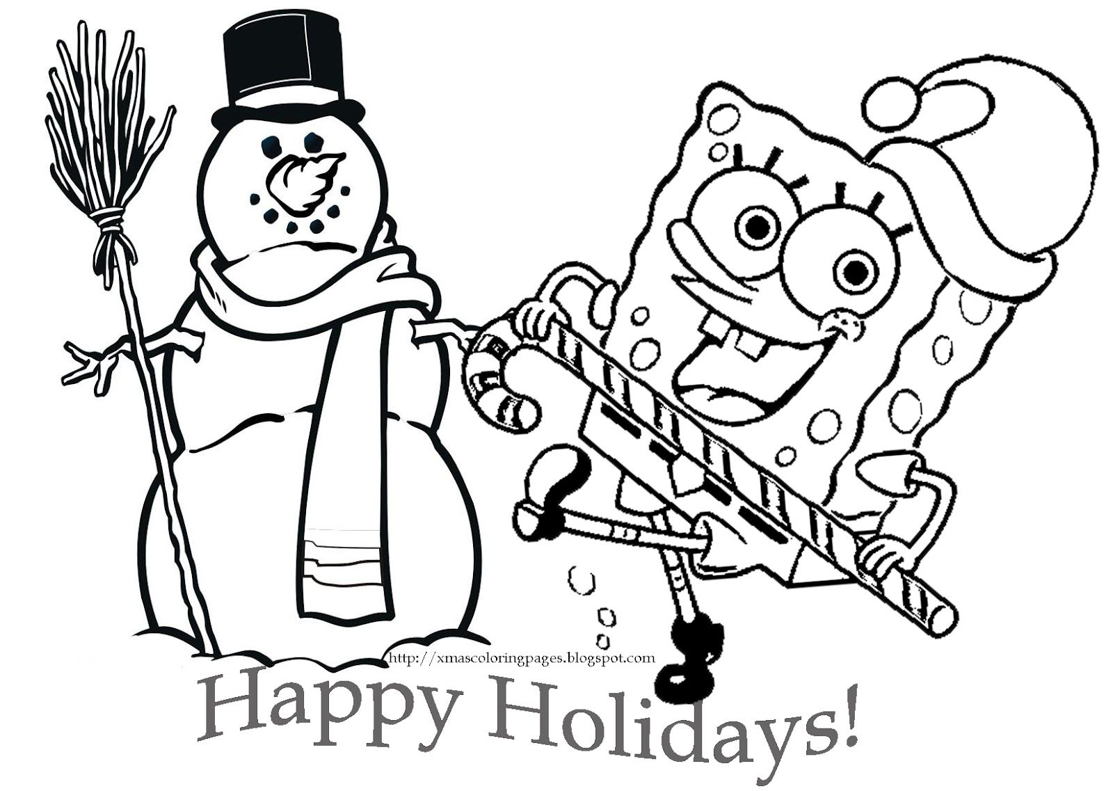 Spongebob Coloring Book | SPONGEBOB SQUAREPANTS CHRISTMAS COLORING ...