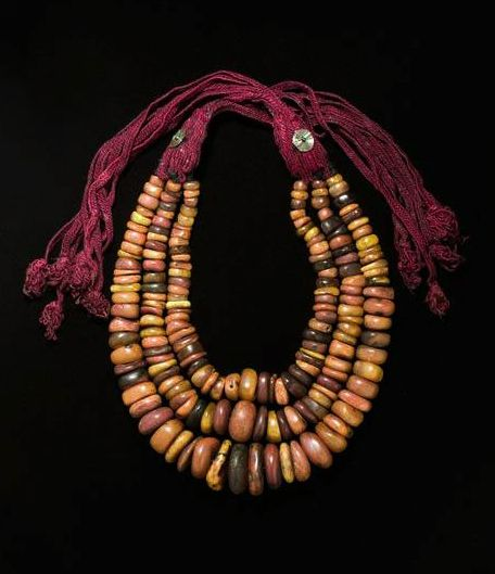 3 strand necklace from the Aït Atta peoples, Jebel Sarhro, Morocco | Desert Jewels: North African Jewelry and Photography from the Xavier Guerrand-Hermès Collection