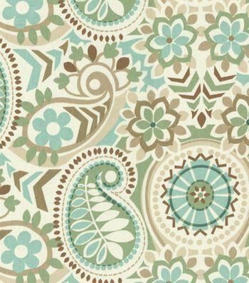 Waverly Home Decor Print Fabric Paisley Prism Latte