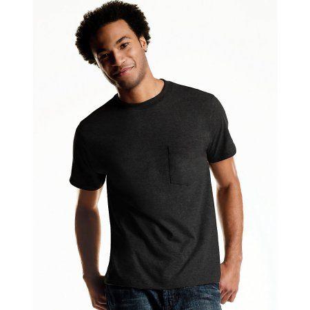Hanes Men`s ComfortSoft/® Cool DRI/® Dyed Crewneck TAGLESS/® Pocket Undershirt