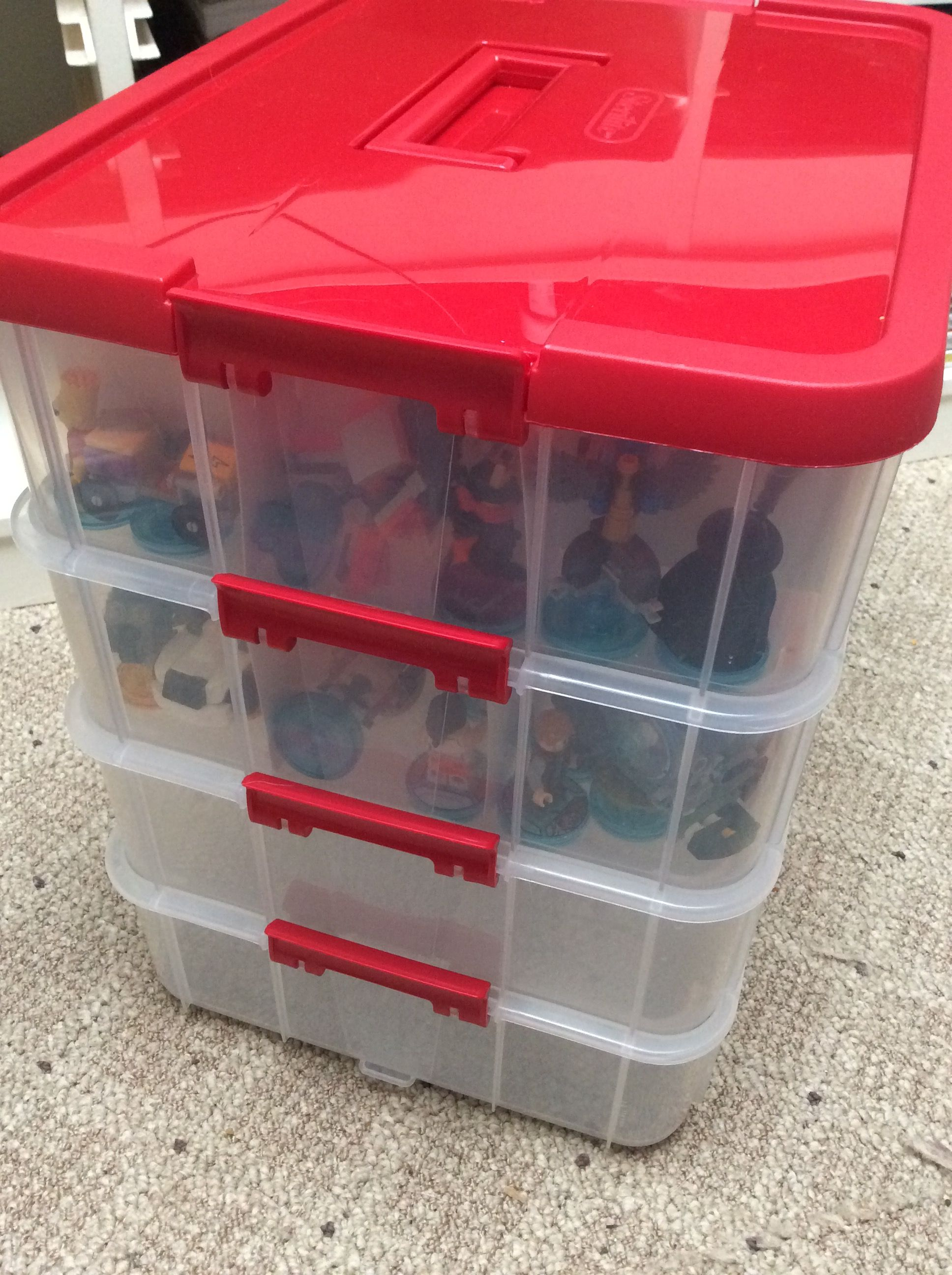 sterilite christmas ornament storage cases