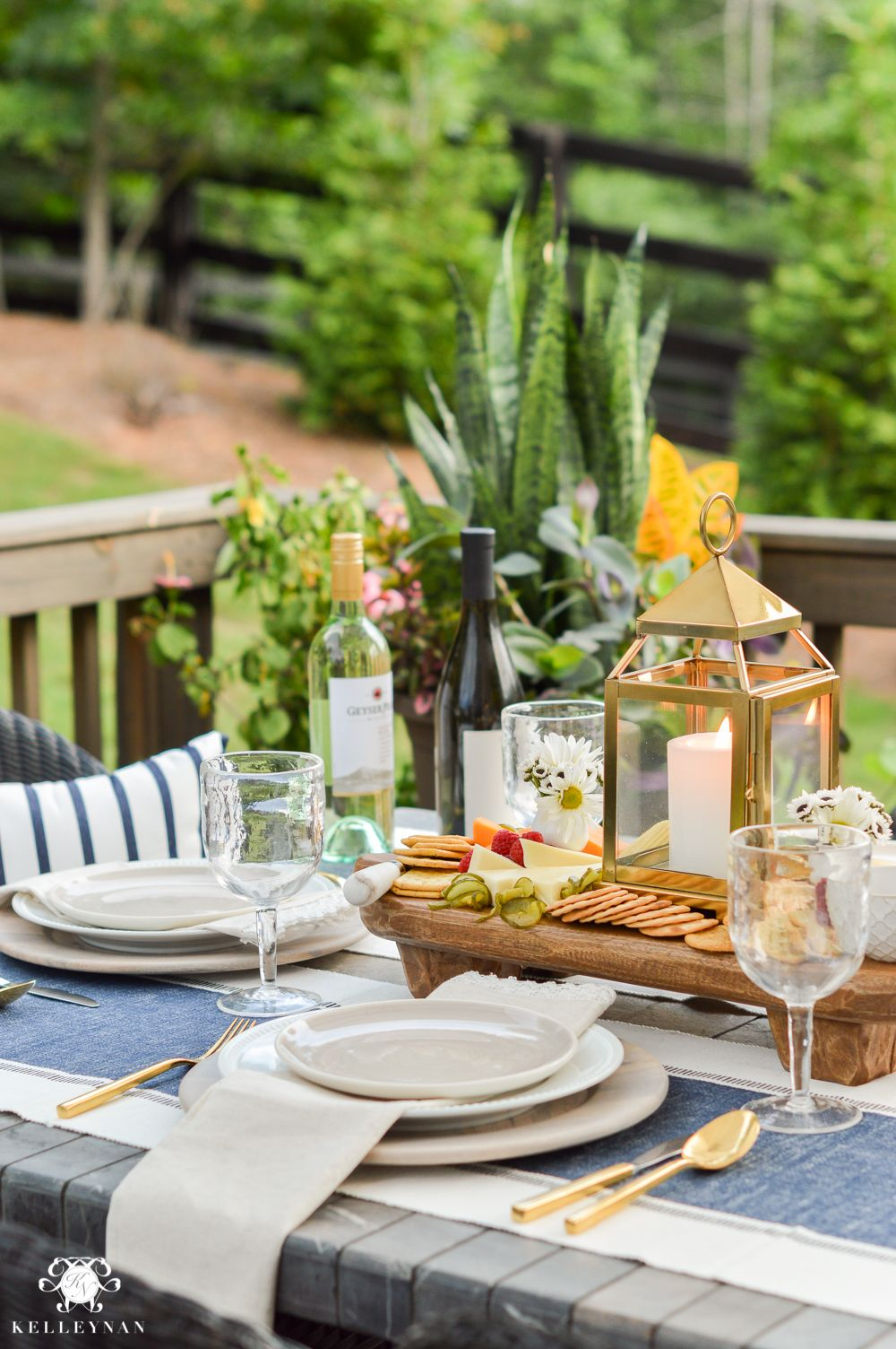 Appetizers And Cheese Boards A Different Centerpiece For Outdoor Dining Kelley Nan Outdoor Dinner Table Outdoor Dinner Dinner Table Setting
