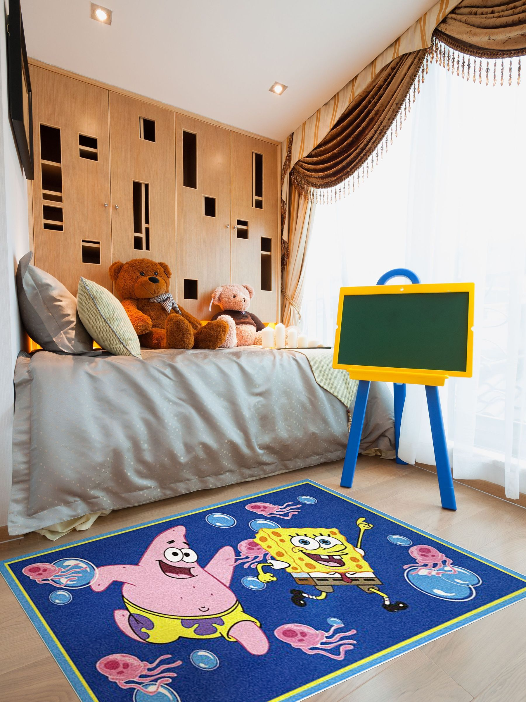 Spongebob Rug In A Child S Bedroom