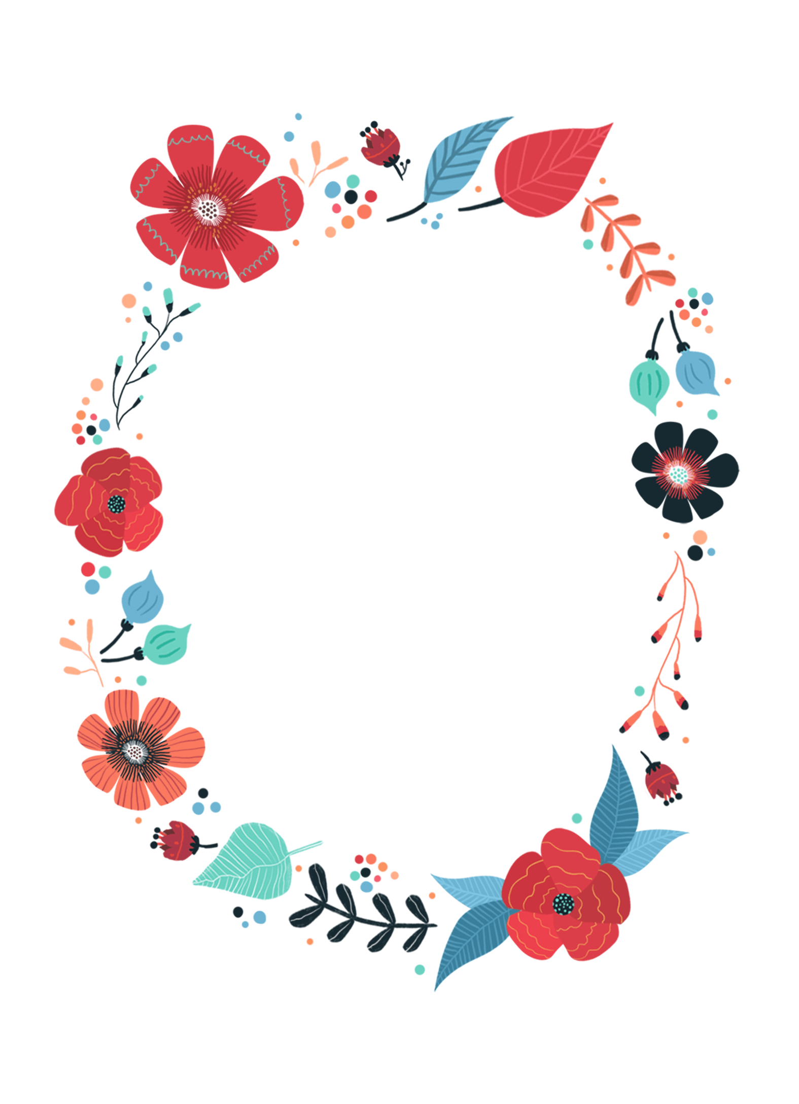 Blooming Wreath - Free Printable Birthday Invitation Template ...
