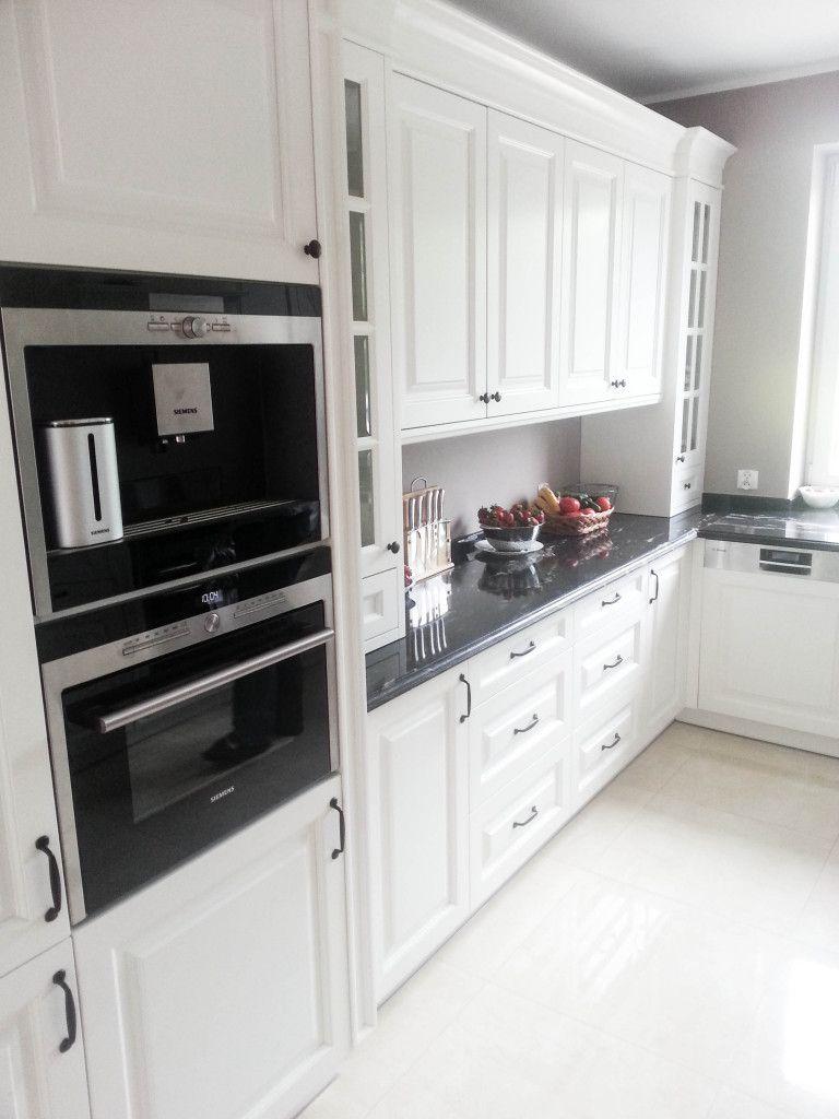 kuchnia klasyczna biała, kuchnie angielskie, meble na   -> Kuchnia Biala Matowa Z Drewnem