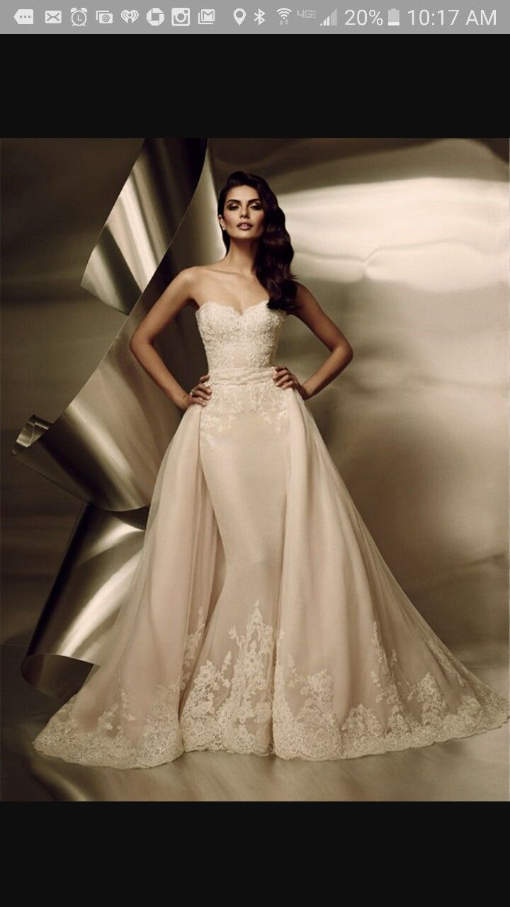 Wedding dress with detachable skirt …   Pinteres…