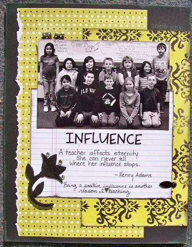 Influence - Scrapbook.com